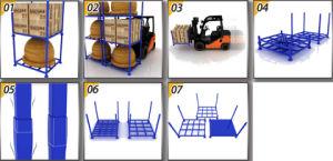 Biens mobiliers camion commercial/Rack de stockage de pneus avec chariot élévateur à fourche