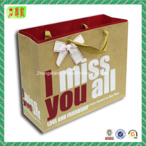 Paper impreso Gift Packing Bag para Clothes y Chocolate