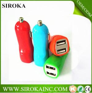 Aprobación CE 5V 2A Dual USB cargador de coche para el iPhone 4s 5 4 6 Celular PDA MP3 MP4 Player