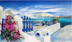 Home Decorationの居間Moder House Wall Decorationsのための卸し売りPrice Highquality Handmade Mediterranean Canvas Beautiful Seascape Oil Painting