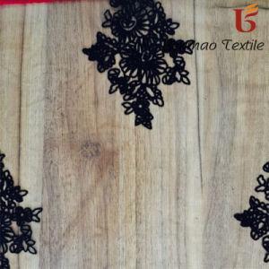 Colorful Flock Printing ON Net/Tulle/Nylon Taffeta Fabric