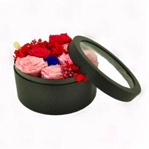 الصين بالجملة رفاهية زهرة يعبّئ صناديق مستديرة ورق مقوّى [ببر بوإكس] مع قبّعة أكريليكيّ
