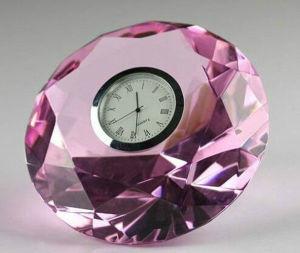 Diamante de vidro cristal K9 com relógio para presente