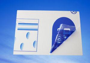 Film PE de couleur claire pour l'acier Protetion épaisseur 0,03 mm