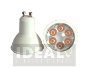 Scheinwerfer LED-GU10 6X1w, weißes Ende, Non-Dimmable