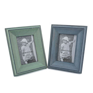 Home Decorationのための黄色いWash Finish Word Wooden Photo Frame
