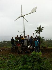 Sistema Generador de turbina para uso doméstico con torre de 18m