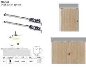 Colgante HIDRÁULICO RUEDA / Cierre de puerta en puerta de madera