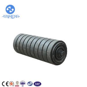 Rullo rivestito di gomma del trasportatore di effetto con le aste cilindriche d'acciaio