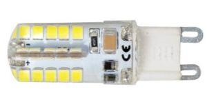 3.3W AC 110-130V 220-240V SMD2835 LED G9 Bulbs Ce RoHS Silicone LED G9 Bulbs met Warm White Color