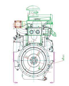 GensetのためのMulitiシリンダー水によって冷却されるディーゼル機関