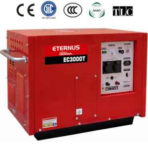 O arranque do motor a China 3KW gerador a gasolina com marcação (CE3000T)