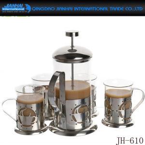 De hete Pot van de Thee van de Koffie van het Glas van de Decoratie van het Huis van de Verkoop Hittebestendige