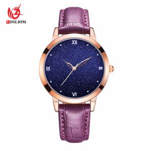Hembra analógico ver estrellas de lujo en números romanos señoras reloj de pulsera de cuero #V937