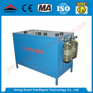 산소 인공호흡기를 위한 산소 실린더 충전물 기계