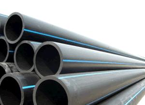 Schwarzes HDPE Plastikrohr für Wasserversorgung PE100 oder PE80
