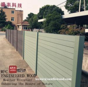セリウムが付いているヨーロッパ式の庭の装飾的な木製のプラスチック合成の木製の塀