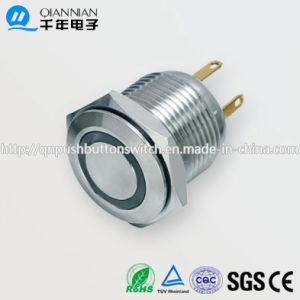 16mm 1nenhum anel plano Redefinível Aceso PI65 IK08 Interruptor do Botão
