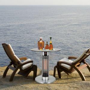 vidro temperado impermeável comercial Jardim Desktop Aquecedor Mesa Elétrica