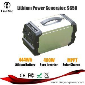 400W/444Wh Gerador de Energia Solar Portátil com fonte de alimentação AC/DC/saídas USB