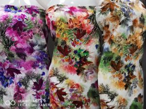 رايون [فيسكس] نمط ثوب زهرة [ديجتل] طباعة بناء