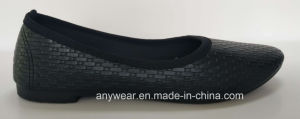 Plano de confort de inyección de poliuretano Mayorista de calzado de mujer zapatos de raso de la boda (736)