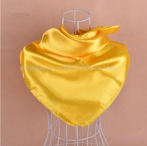 熱い販売純粋なカラー柔らかい絹の女性のスカーフのスカーフ90*90cm