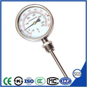 Conexión inferior Termómetro bimetálico con CE