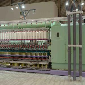 Transportador de descarga automática de alta velocidad Tongda bastidor anillo girando la máquina para los hilados de algodón