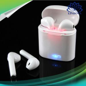 Apple iPhone를 위한 Mic를 가진 무선 입체 음향 이어폰 Bluetooth 헤드폰 에서 귀 보이지 않는 음악 Earbud 6 7 8