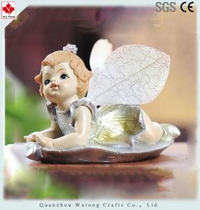 La decoración del hogar hecho personalizado Bebé Polyresin Angel Figurine