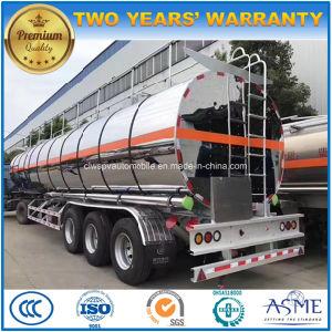 3 eixos de água peptonada tamponada com reboque de tanque de alumínio 45kl petroleiro de crude/transferência de gasolina