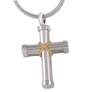 De zilveren, Zwarte Juwelen van de Crematie van het Roestvrij staal van de Tegenhanger van de Kleur Dwars
