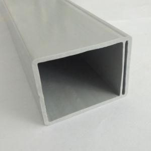 플라스틱 밀어남 회색 PVC 장방형 관