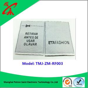 Impreso de la mañana Secruity RF EAS etiqueta tejida por prenda o prendas de vestir