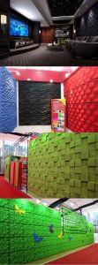Comitato di parete acustico decorativo 3D della fibra di poliestere della prova di fuoco