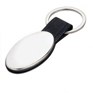 Настраиваемые сплав из натуральной кожи с кольцом для продвижения по службе (ELE- keyring190)