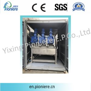Strumentazione d'asciugamento del contenitore del fango mobile della pressa a elica