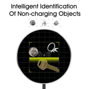 10W de Carga rápida inteligente Universal Mobile Qi cargador inalámbrico portátil
