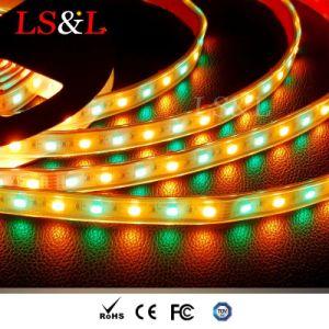 La striscia del LED RGB+Amber per la decorazione DC12/24V impermeabilizza Ce&RoHS