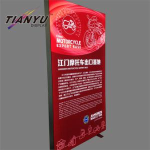 Дисплей со светодиодной подсветкой освещения в салоне ткань безрамные рекламы на дисплее