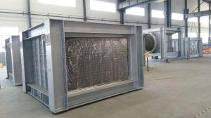 Pré-aquecedor de ar combinado com estrutura de placa soldada e tubos de esmalte
