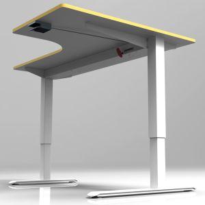 Die von Hand betriebene justierbare Höhe sitzen und stehen Büro-Schreibtisch