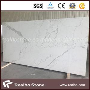 Grande dalle Engineered/artificiel Noir/beige / gris pierre de quartz blanc pour cuisine/comptoir de l'Île/salle de bain haut de la vanité