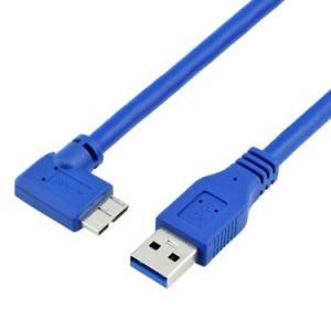 Штекер USB 3.0 для Micro B 10контакт 90 градусов кабель угла поворота вправо