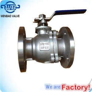 GB 2PC Válvula Esférica flangeada de aço inoxidável com Caixa de Engrenagens