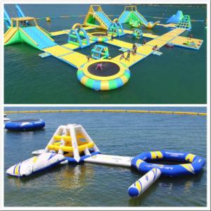 Het aangepaste Drijvende Opblaasbare Park van het Water en de Opblaasbare Vervaardiging van de Hindernis