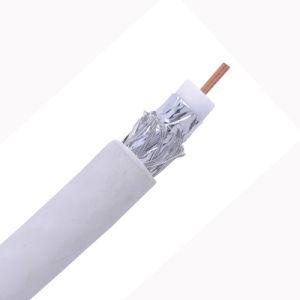 Conductor CCS RG6 el 60% de cobertura Al trenzar PVC negro con cable coaxial de Jelly