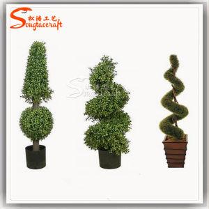Novo Estilo de árvore de Esferas Topiary Buxo artificiais para decoração de jardim