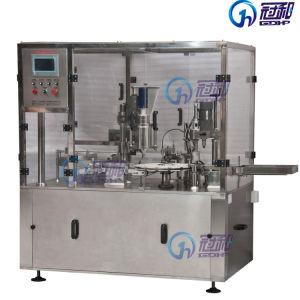 Máquina de enchimento do reservatório de líquido automática com linha de rotulação de nivelamento